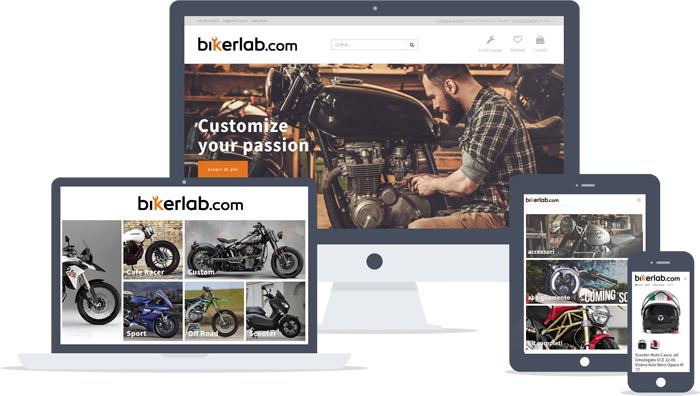 Bikerlab - Il marketplace per la personalizzazione della tua moto